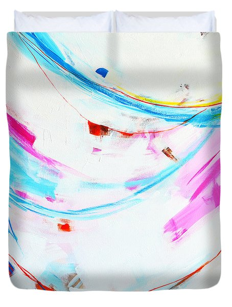 Entangled No. 8 - Left Side - Abstract Painting Duvet Cover