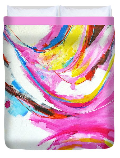 Entangled No. 8 - Right Side - Abstract Painting Duvet Cover