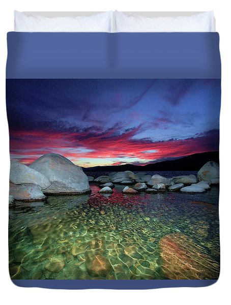 Enter A Tahoe Dream Duvet Cover