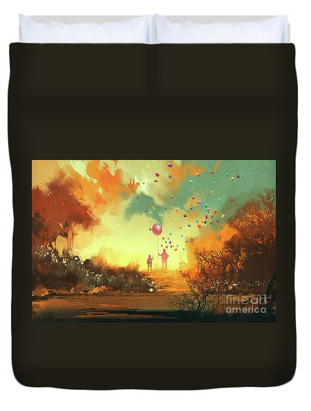 Enter The Fantasy Land Duvet Cover