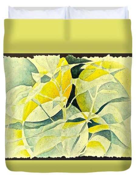 Entering A New Realm Duvet Cover by Carolyn Rosenberger