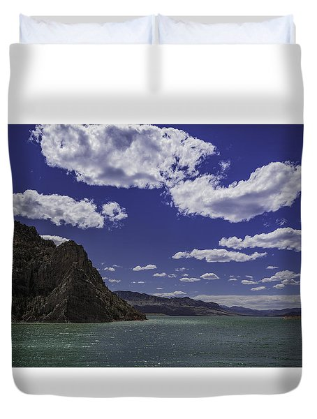 Duvet Cover featuring the photograph Entering Yellowstone National Park by Jason Moynihan
