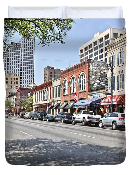 Entertainment District, Austin, Texas Duvet Cover