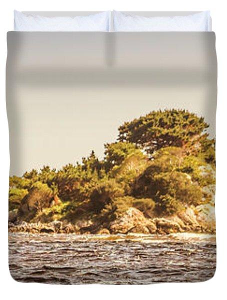 Entrance Island Lighthouse, Hells Gates Duvet Cover