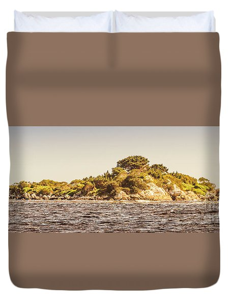 Entrance Island Lighthouse, Hells Gates Duvet Cover