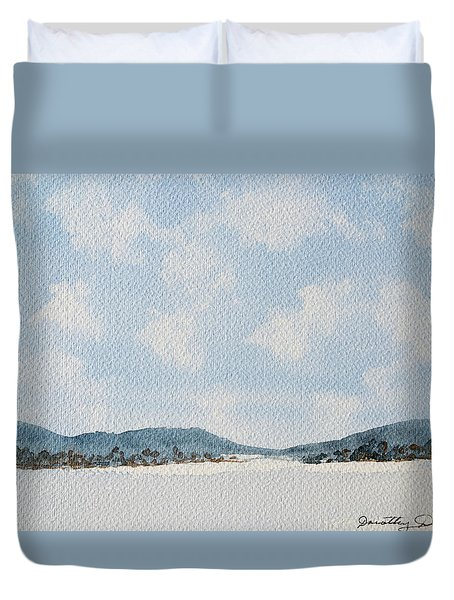 Entrance To Moulters Lagoon From Bathurst Harbour Duvet Cover