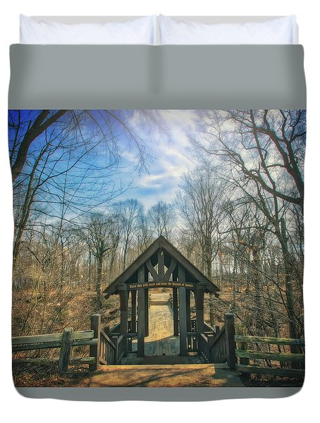 Entrance To Seven Bridges - Grant Park - South Milwaukee #3 Duvet Cover by Jennifer Rondinelli Reilly - Fine Art Photography