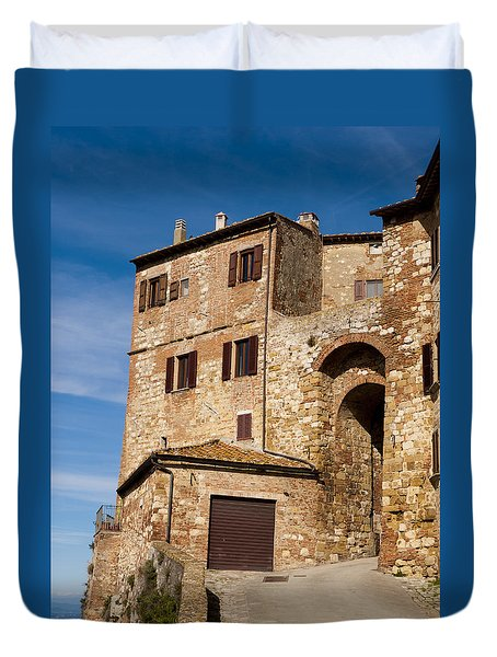 Entrance To The City Duvet Cover by Rae Tucker