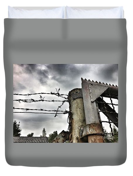 Entrance To The Old Ammunition Depot Of The Belgian Army Duvet Cover