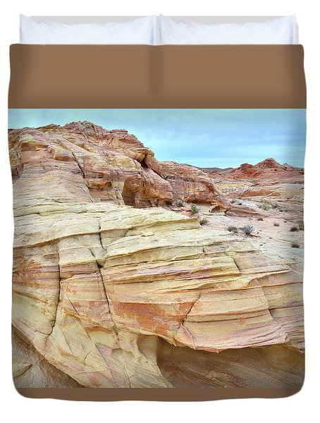 Duvet Cover featuring the photograph Entrance To Wash 3 In Valley Of Fire by Ray Mathis
