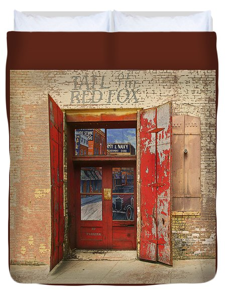 Duvet Cover featuring the photograph Entry Into The Past by Jeff Burgess