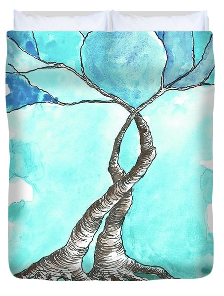 Entwined Trees Duvet Cover