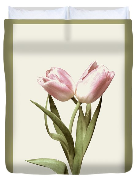 Entwined Tulips Duvet Cover by Jeannie Rhode