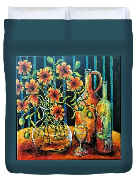 Entwining Poppies Duvet Cover