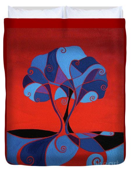 Enveloped In Red Duvet Cover