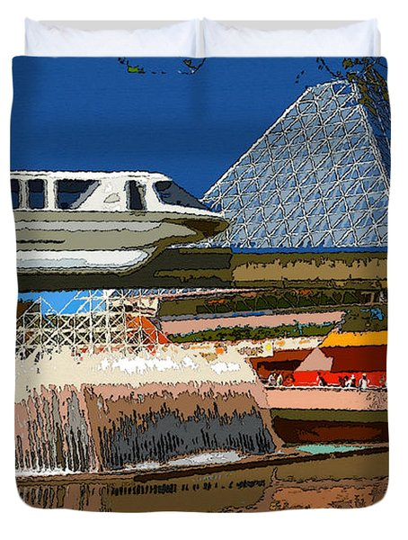 Epcot Scenic Duvet Cover by David Lee Thompson