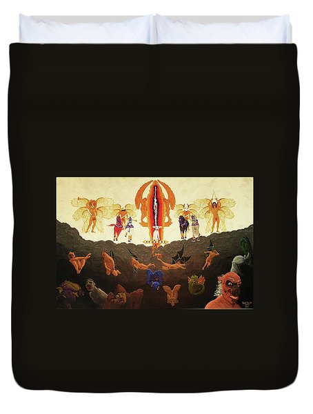 Epic - In The Valley Of Megiddo Duvet Cover by Rand Swift