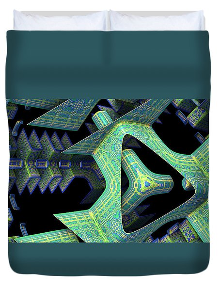 Duvet Cover featuring the digital art Epic by Lyle Hatch