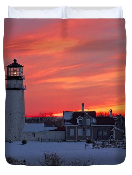 Epic Sunset At Highland Light Duvet Cover