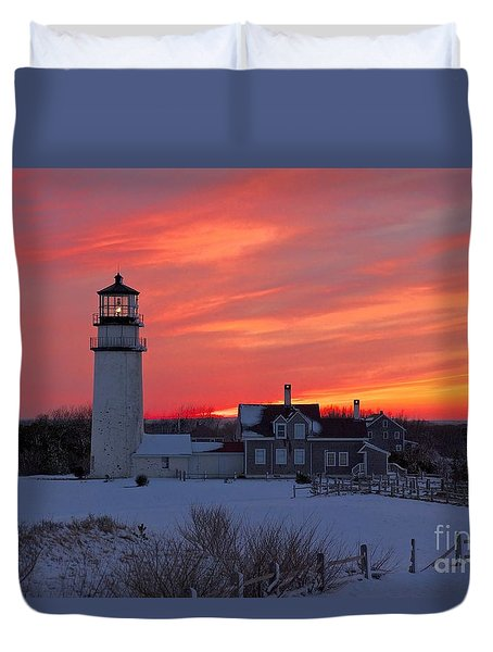 Epic Sunset At Highland Light Duvet Cover by Amazing Jules
