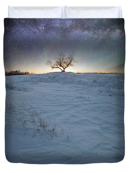 Duvet Cover featuring the photograph Epiphany by Aaron J Groen