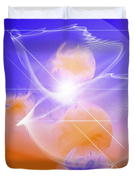 Duvet Cover featuring the digital art Epiphany by Ute Posegga-Rudel