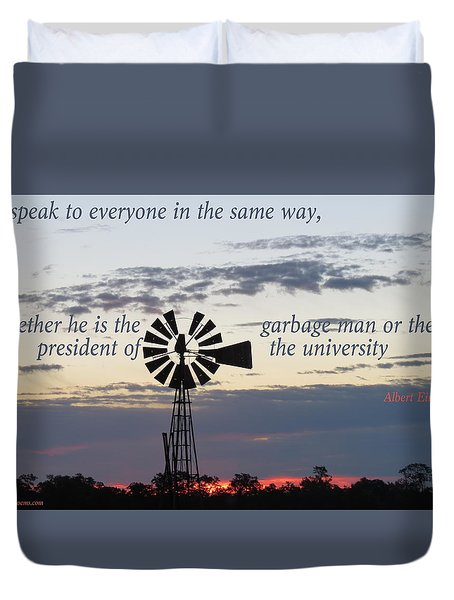 Equal In God's Eye Duvet Cover by David Norman