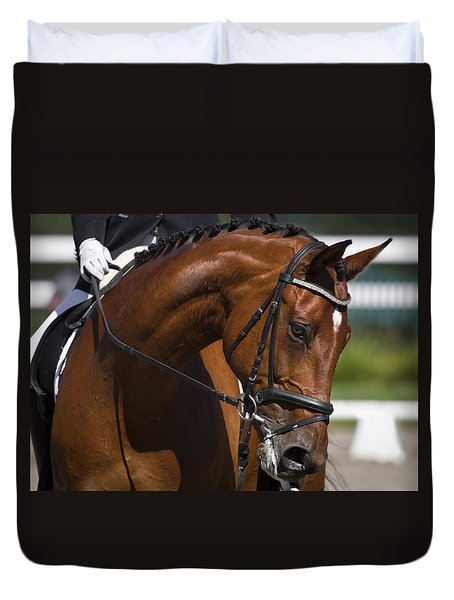 Duvet Cover featuring the photograph Equestrian At Work D4913 by Wes and Dotty Weber