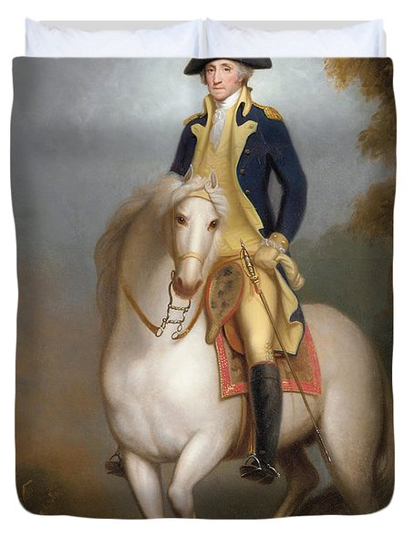 Equestrian Portrait Of George Washington Duvet Cover by Rembrandt Peale