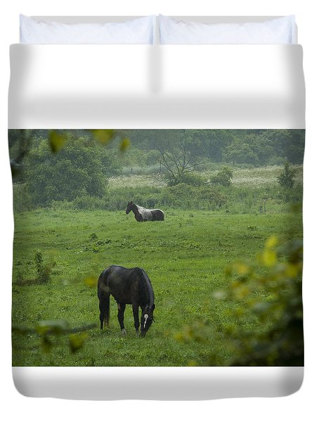 Equine Buddies Duvet Cover