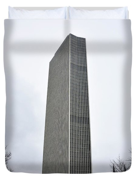 Duvet Cover featuring the photograph Erastus Corning Tower In Albany New York by Brendan Reals