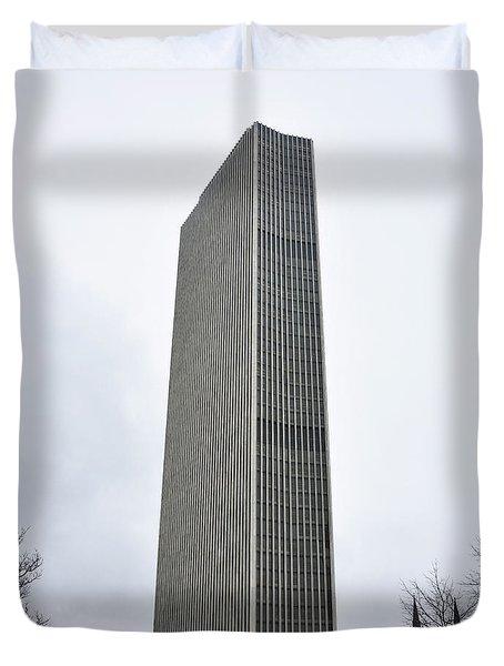Erastus Corning Tower In Albany New York Duvet Cover by Brendan Reals