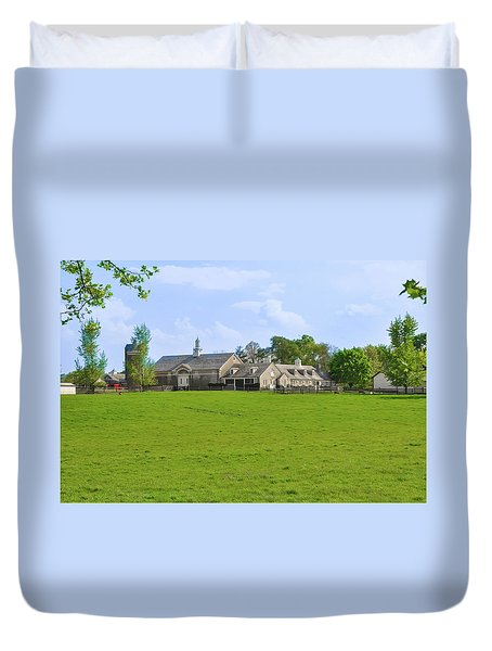 Duvet Cover featuring the photograph Erdenheim Farm - Whitemarsh Montgomery County Pa by Bill Cannon