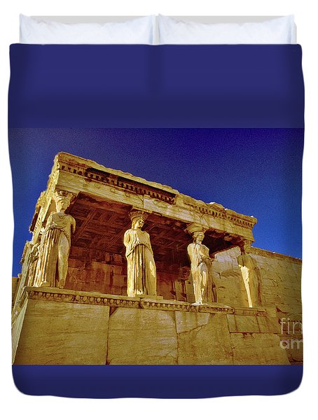 Erechtheum Athens Ver 1 Duvet Cover