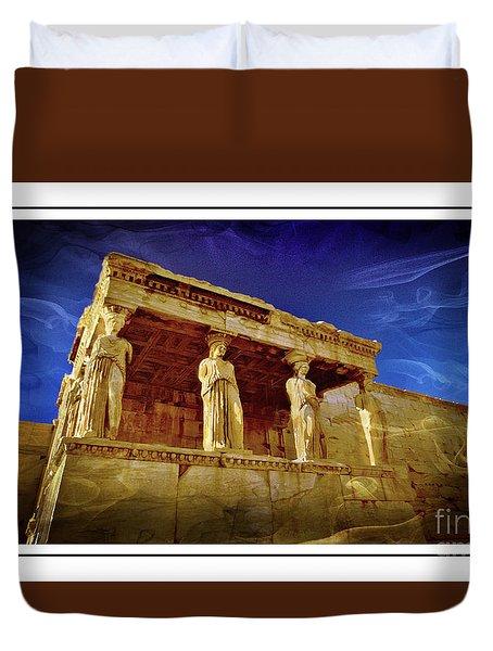 Erechtheum Athens Ver 2 Duvet Cover