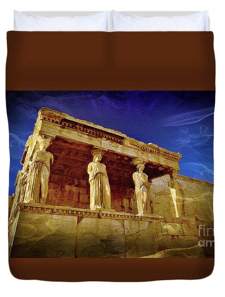 Erechtheum Athens Ver 4 Duvet Cover