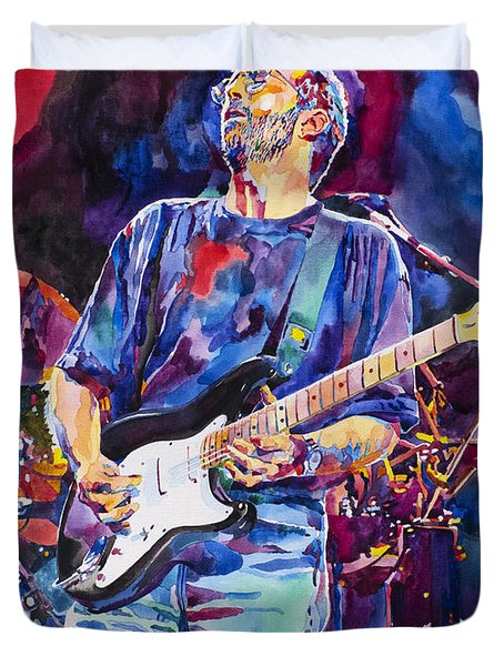 Eric Clapton And Blackie Duvet Cover