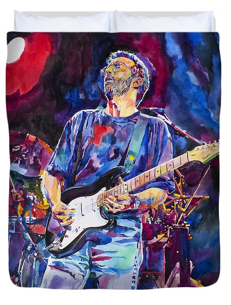Eric Clapton And Blackie Duvet Cover by David Lloyd Glover