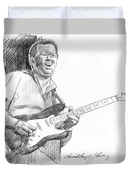 Eric Clapton Jam Duvet Cover by David Lloyd Glover