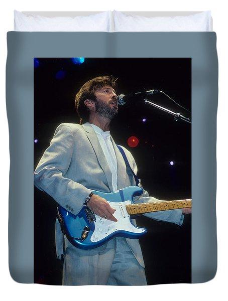 Eric Clapton Duvet Cover by Rich Fuscia