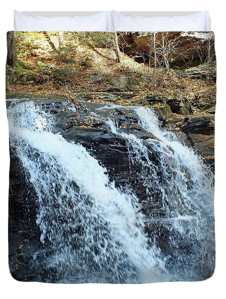 Erie Falls - Ricketts Glen Duvet Cover
