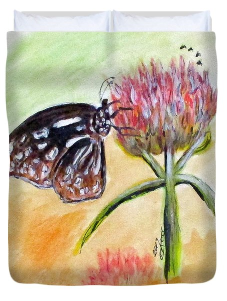 Erika's Butterfly Two Duvet Cover by Clyde J Kell