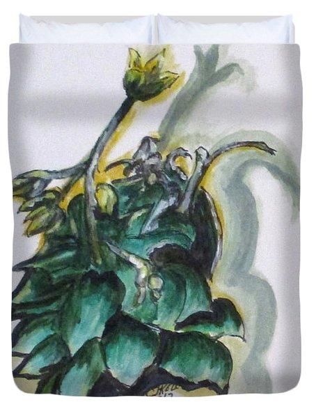 Erika's Spring Plant Duvet Cover