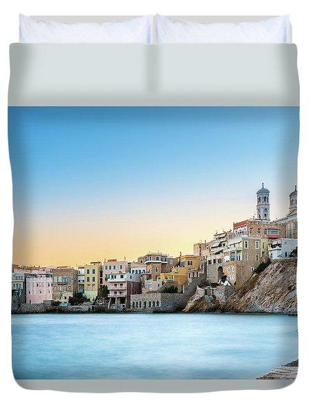 Ermoupoli - Syros / Greece. Duvet Cover