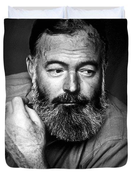 Ernest Hemingway 1944 Duvet Cover