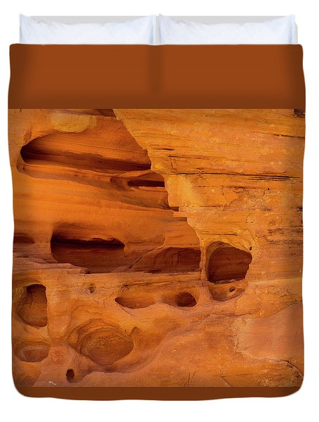 Eroded Sandstone Valley Of Fire Duvet Cover by Frank Wilson