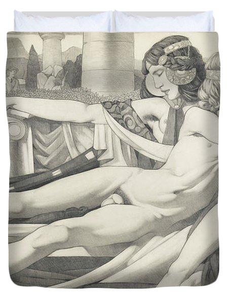 Eros And Aphrodite, 1910 Duvet Cover