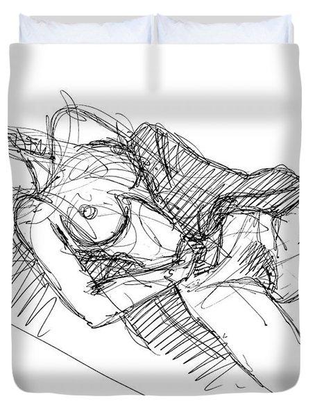 Erotic Art Drawings 7 Duvet Cover