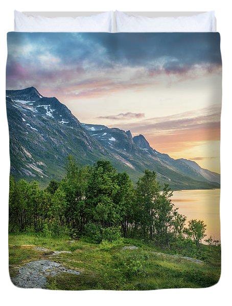 Ersfjord Sunset Duvet Cover
