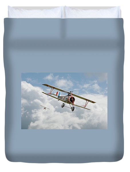 Duvet Cover featuring the photograph Escadrille Lafayette - Hunters by Pat Speirs